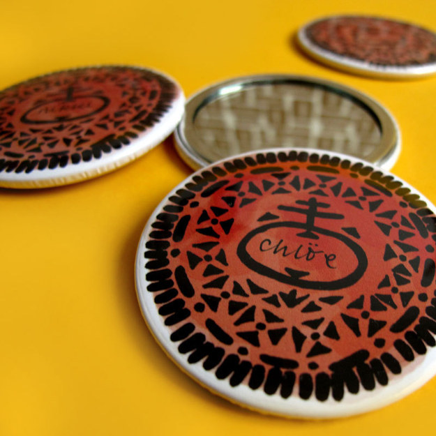 Personalized Cookie Pocket Mirror