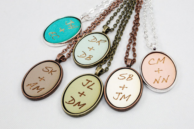 Custom Initials Cameo Pendant
