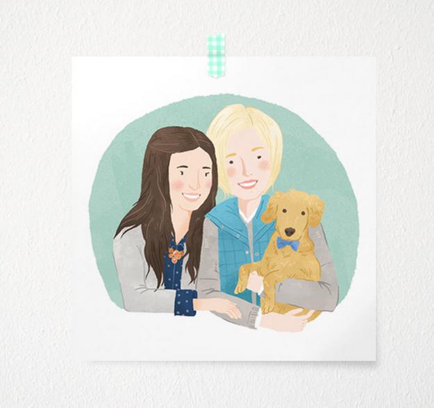 Custom Illustrated Family Portrait