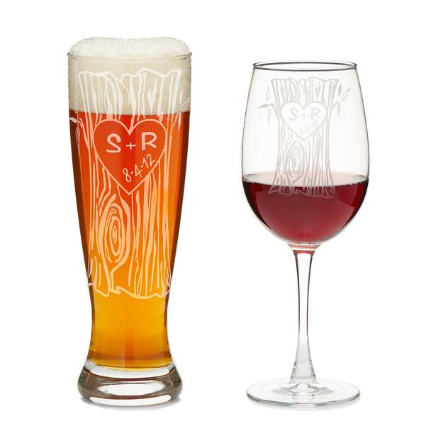 Personalized Glassware Duo