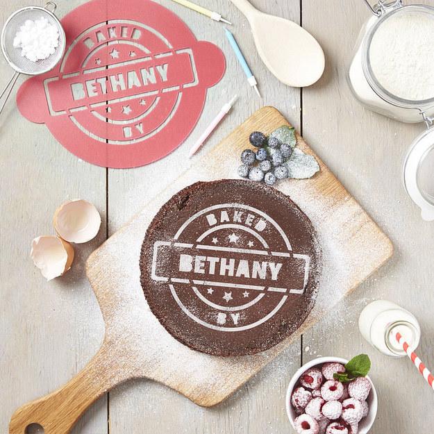 Personalized Cake Stencil