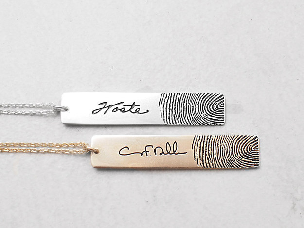 Personalized Fingerprint Necklace