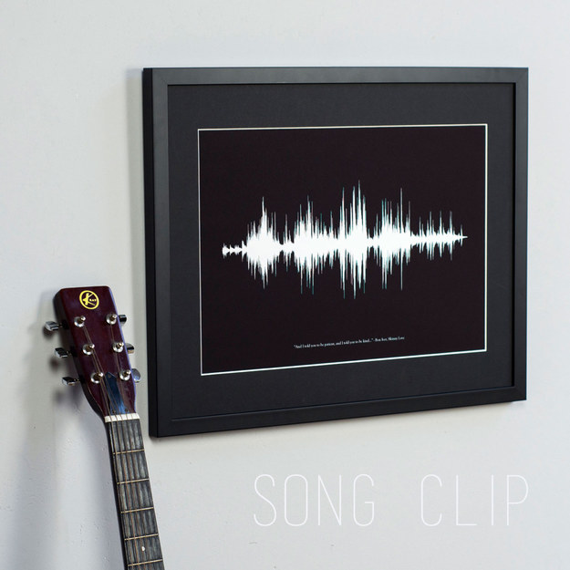 Custom Sound Wave Print