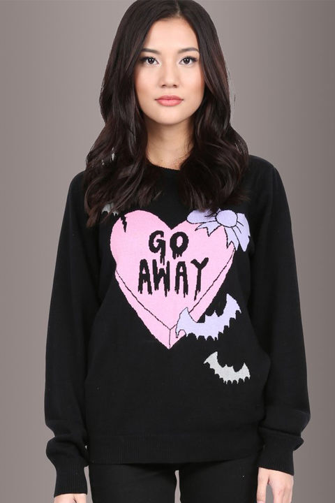 Too Fast Clothing Creepy Love Sweater, $46.90, Pretty Attitude