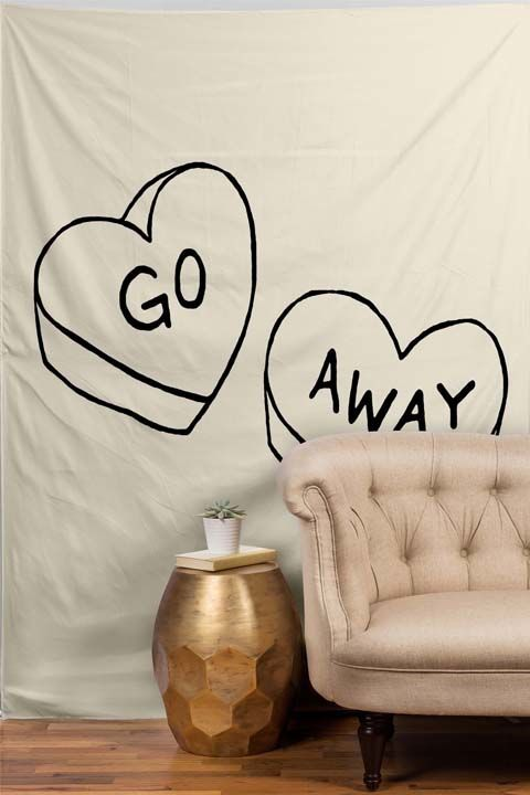 Go Away Tapestry, $69, Dormify