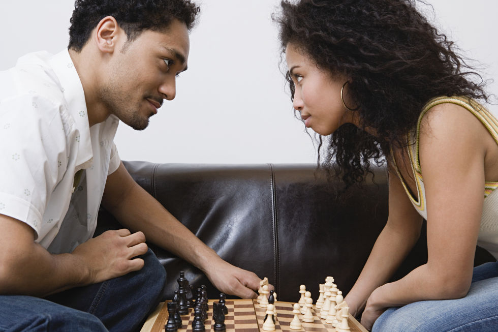 Getting competitive is sexy. Whether you bust our chess, Monopoly, or Settlers of Catan, you'll have fun trying to beat your partner. For a sexy touch, try a strip version of each game: Whenever someone gains a point, the other person has to take off an item of clothes...