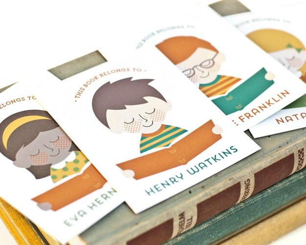 Custom Portrait Bookplates