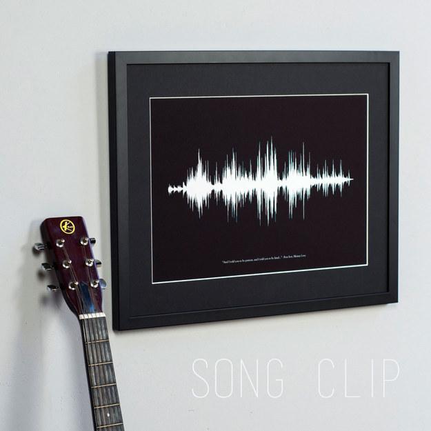 Custom Sound Wave Print