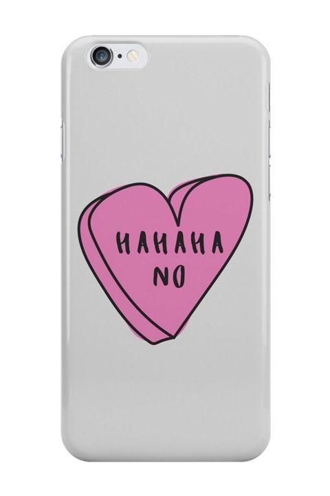 HAHAHA NO Sassy Conversation Heart, $26, Redbubble