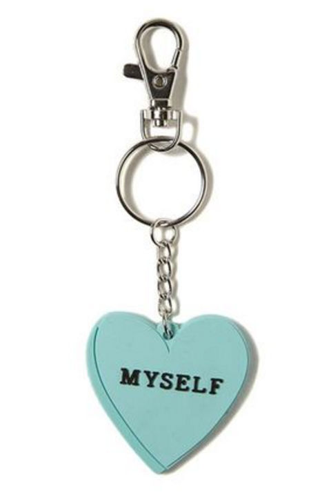 Heart Myself Shaped Keyring, $7.99, Cotton On